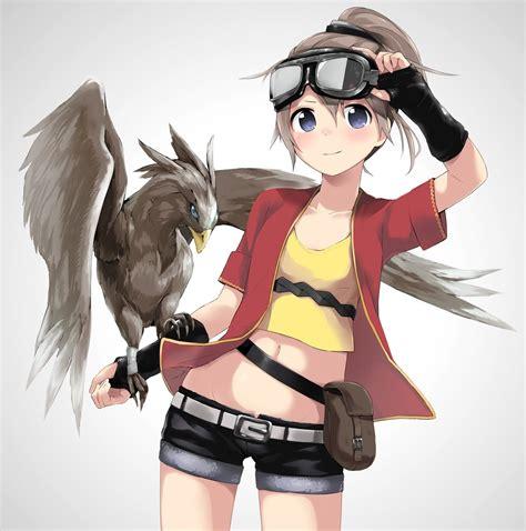 Pin on My Pokemon player - ponytail anime girl dark brown hair