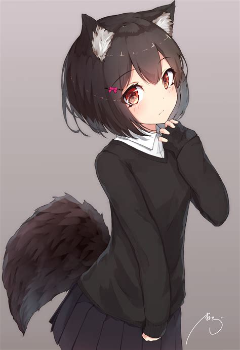 Anime Girl With Wolf Ears Wallpapers - Wallpaper Cave - brown hair cute anime girl wolf
