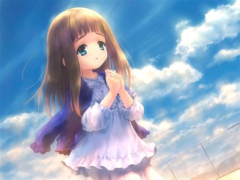 Pin on Images & Quotes - cute anime girl light brown hair blue eyes