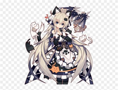 魔 学 姫 アスタロット Cat Ears, Blue Hair, Anime Neko, Neko ... - brown hair flower crown cat brown eyes brown hair flower crown cat cute anime girl