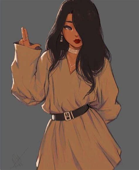 Pin by Atefeh Bamoradi on Anime  Anime art girl ... - brown skin anime girl aesthetic