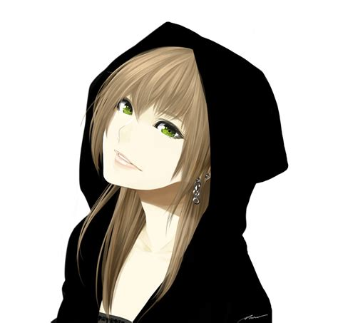 Poaro/#1192072 - Zerochan - cute anime girl brown hair blue eyes hoodie