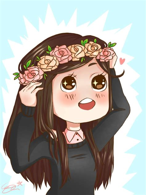 Flower crown by sushicat333 on DeviantArt - brown hair flower crown cat brown eyes brown hair flower crown cat cute anime girl