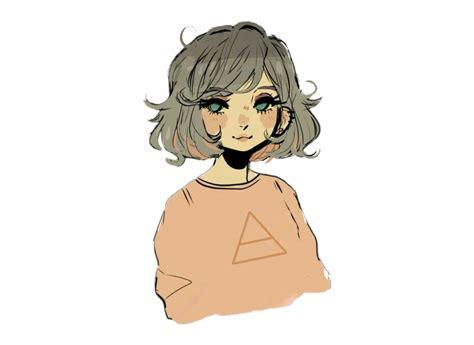 Brown Hair Cartoon Pfp - cute anime girl with short brown hair pfp