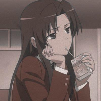 LIGHTSABER — (random 'anime - girls' icons) ♡ like or ... - aesthetic anime girl with brown hair sad
