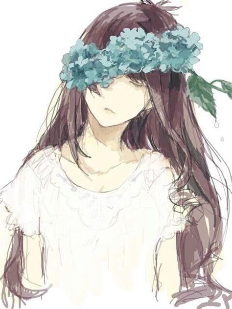 Épinglé sur Manga//Anime Girls With Brown Hair & Green Eyes - brown hair green eyes brown hair flower crown cute anime girl
