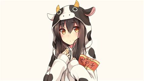 Brown hair cowgirl food hoodie orange eyes original ... - hoodie cute anime girl with black hair and brown eyes