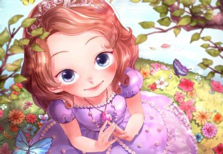 Lil' Princess - Other & Anime Background Wallpapers on ... - brown hair green eyes brown hair flower crown cute anime girl