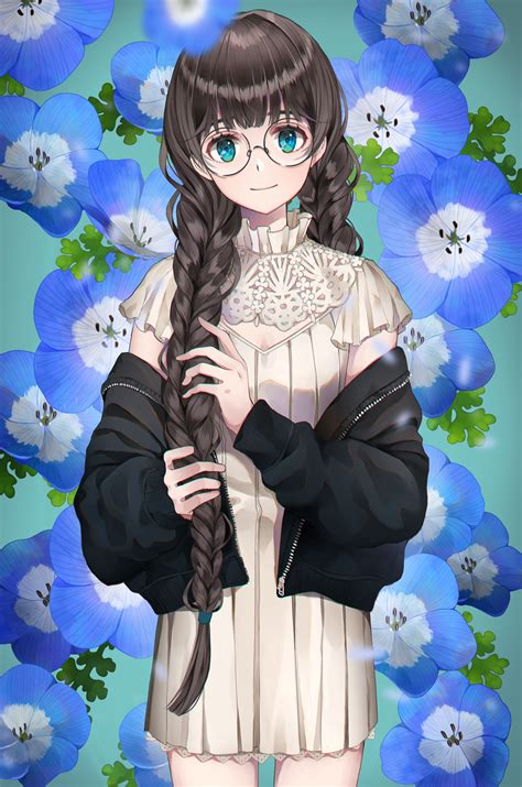 Pin on Anime Pictures - girl anime characters with brown hair and glasses