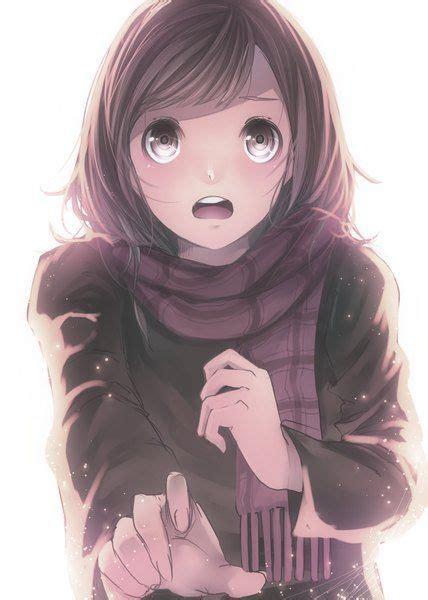 113 best Anime winter images on Pinterest  Anime girls ... - long hair hazel eyes long hair brown hair beautiful anime girl