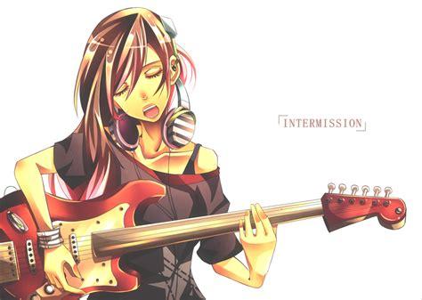 Imagen - Guitar-anime-girl-msyugioh123-32707593-952-678 ... - brown hair beautiful anime girl playing guitar