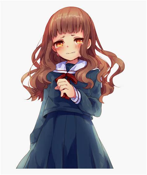 Brown Hair Cute Anime Girl , Transparent Cartoon, Free ... - brown hair flower crown cat brown eyes brown hair flower crown cat cute anime girl