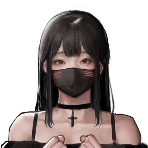 Asian, anime girls, black hair, brown eyes, mask, digital ... - anime girl with black hair and brown eyes aesthetic