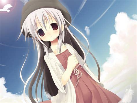 Anime Girls, Long Hair, Brown Eyes, Anime wallpaper ... - brown hair long hair cute anime girl