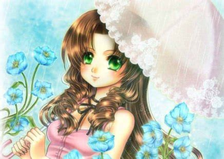 Adorable - Other & Anime Background Wallpapers on Desktop ... - brown hair green eyes brown hair flower crown cute anime girl