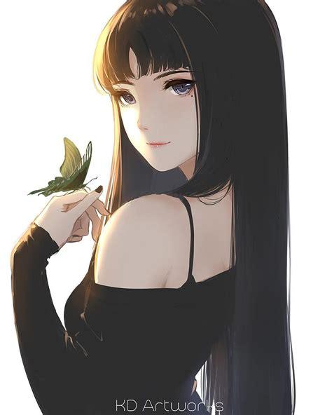Pin on Anime - brown eyes cute aesthetic anime girl black hair