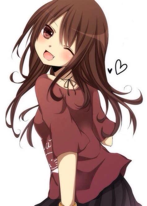 Pin on 「Anime」 - anime girl drawing colored brown hair