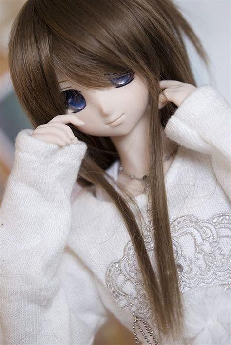 Cute, brown hair, blue eyes  Ash hair color, Light ash ... - light brown hair color anime girl