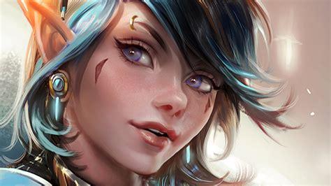 Wallpaper : face, model, fantasy art, anime, black hair ... - brown hair beautiful anime girl face