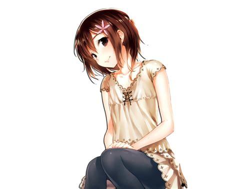 Kiren's Blog †: PNG Anime - brown anime girl hair png