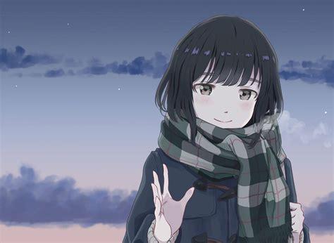 Pin on Anime Wallpaper - cute anime girl with short dark brown hair