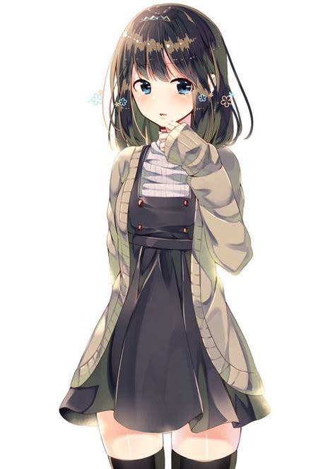 Pin on SAT/ACT - cute anime girl with short dark brown hair