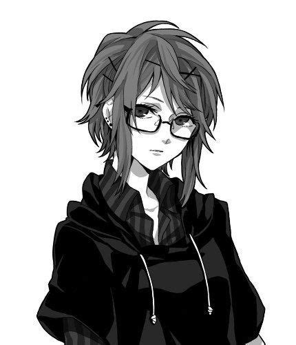 Pin on Fraternal Romance Characters - girl anime characters with short brown hair and glasses