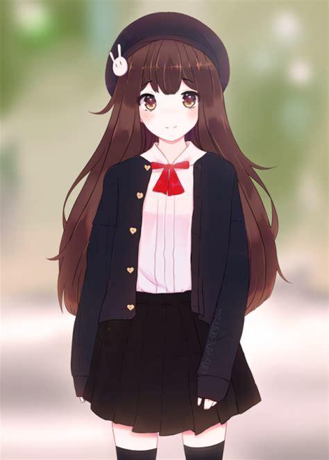 Brown anime girls  Tumblr - aesthetic anime girl with brown hair